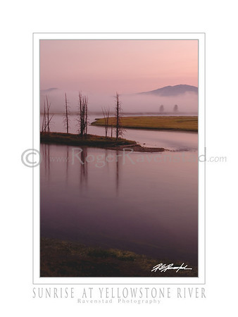 "18X24 Poster: ""SUNRISE AT YELLOWSTONE RIVER""   $49.95"