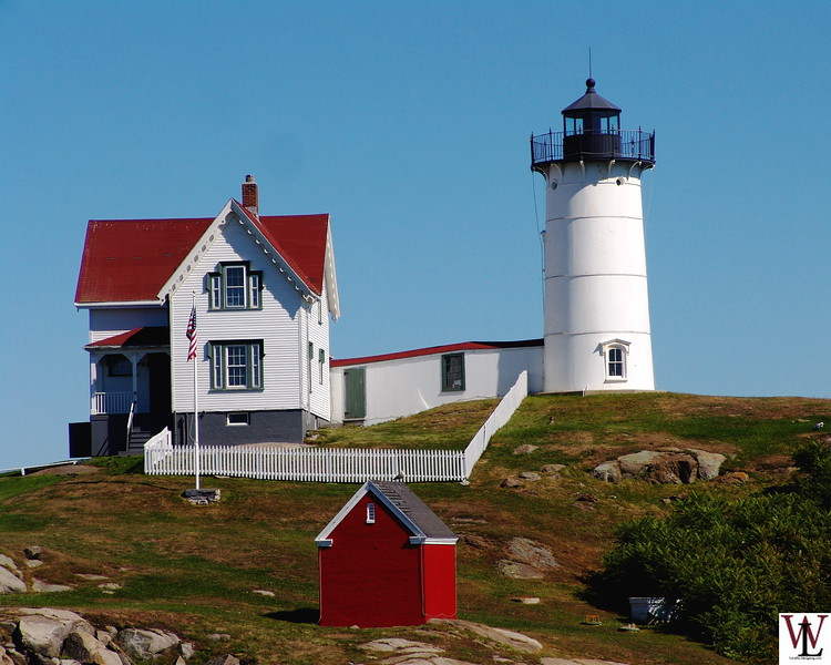 Cape Neddick Lighthouse, a.k.a. Nubble Light in York Beach, Maine