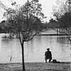 Man and Bride Fishing