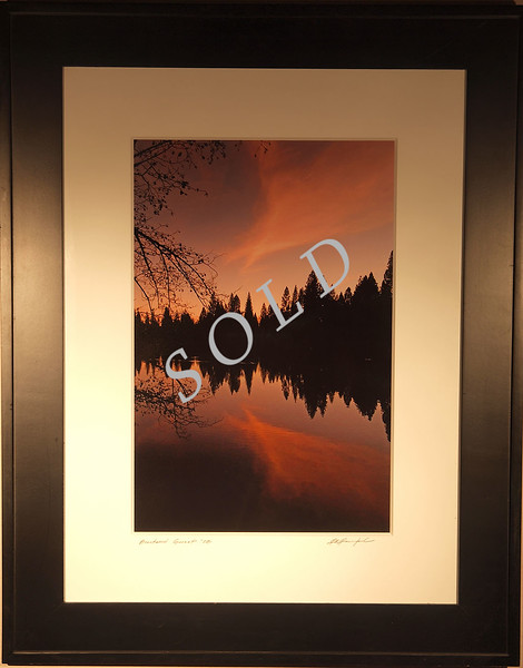 "<font face=""Papyrus"" color=""#5D92B1"" size=""7"">Brentwood Sunset <i>(sold)</i></font>  <p> </p> <p> <font  size=""5""> 40% OFF Sale price: $120. <font size=""3"">(Regular price:  $200)<font size=""5""> Free shipping and handling</font> </p> <p> <font color=""#5D92B1"" size=""4"">Print:  11x14.     Mat and frame:  16x20. Mat is museum grade 1/8 inch thick conservation mat,  Frame is solid wood, black, with regular glass.  </font> </p> This is the actual framed and matted piece.  However, due to nature of photographing a photo through framed glass the image is not 100% accurate.  To see an accurate view of the image look here in the <font face=""papyrus"" color=""#5D92B1"" size=""3""><a href=""http://rogerravenstad.smugmug.com/gallery/1851170#113283224_QwS4e-A-LB"" target=""blank"">Fine Art Gallery</a></font>"