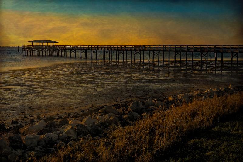 "Safety Harbor Pier; ""Oil"""