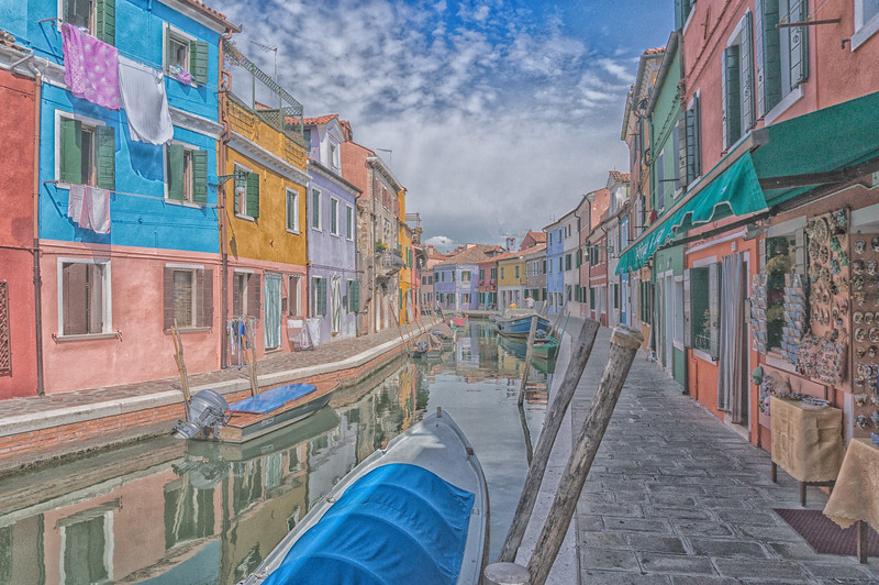 Watercolor; Burano, Italy