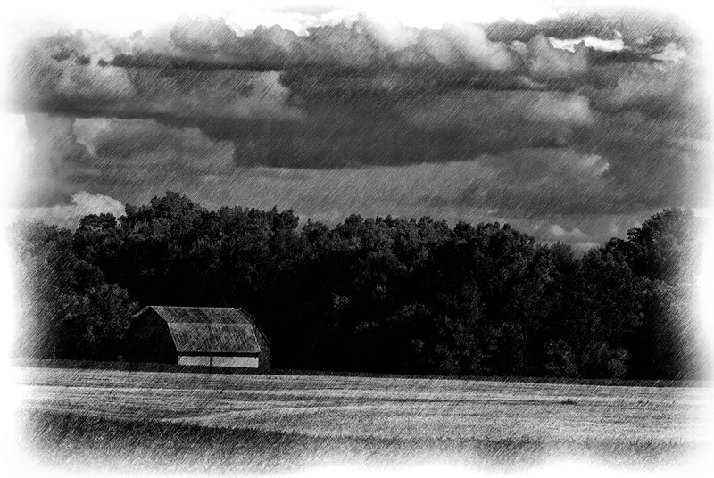 Barn; Pencil Drawing