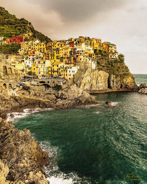 Pastel & Canvas; Cinque Terre