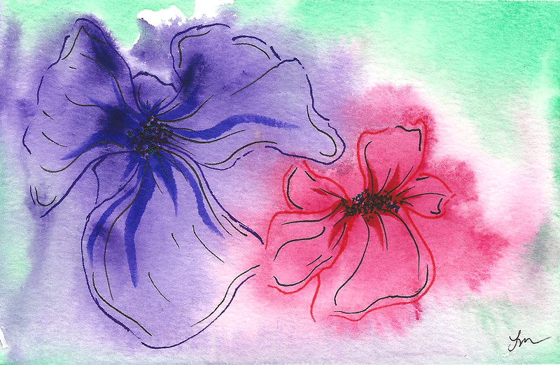 0017-hand painted greeting cards