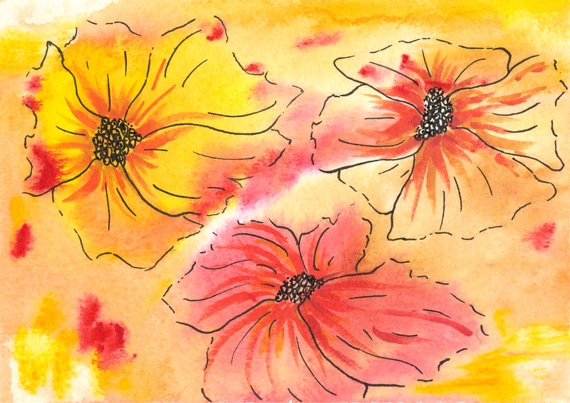 0002-hand painted greeting cards