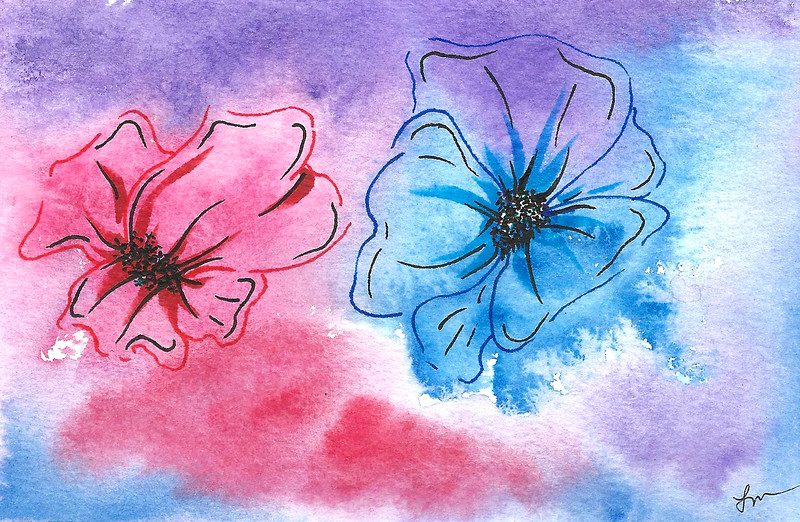 0019-hand painted greeting cards