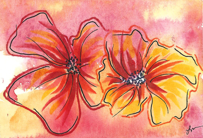 0012-hand painted greeting cards