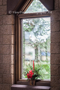 This simple decoration in a church window sets the tone for the season!