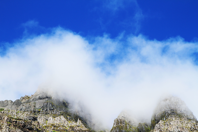 Milk clouds on mountains