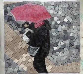 Venice Rain small sample in glass tile mosaic