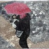 Venice Rain small sample in glass tile mosaic