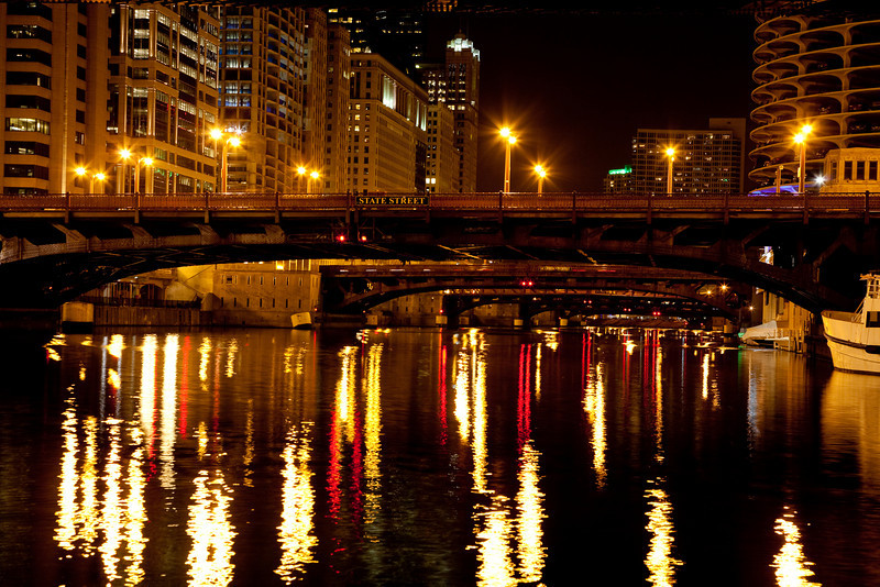 "Chicago At Night #7213<br /> 12"" x 18"" Unmounted Print - $25<br /> Quotes for other sizes, media and mounting or framing upon request. edit"