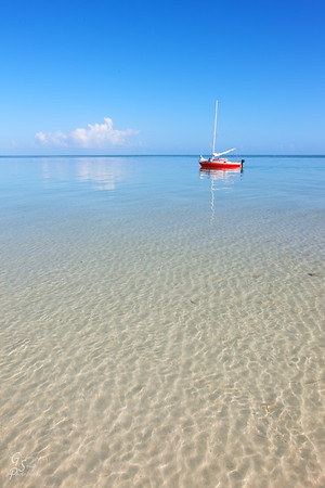 Clear Waters, Red Boat