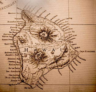 Map of the Big Island of Hawaii