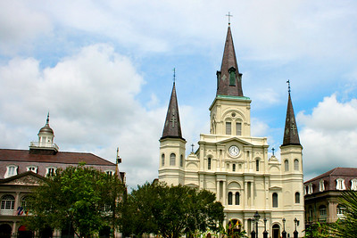 New Orleans, Louisiana, French Quarter. March 2008 Jackson Square