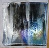 "Glacial Moonshadows Collection<br /> 10"" x 10"" curved platter - view #1<br /> $1200"