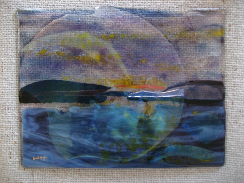 """Half Moon Bay<br /> 10"""" x 12""""   view #2 (shows transparency)"""
