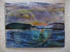 "Half Moon Bay<br /> 10"" x 12""   view #2 (shows transparency)"