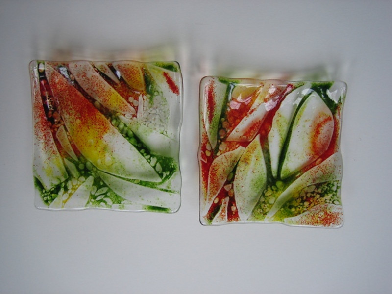 pair of shallow square dishes<br /> <br /> $600 SOLD<br /> similar commissions welcome