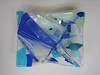 """Beach Volley""<br /> fused glass bowl, 9"" x 12""<br /> <br /> SOLD ($400)"