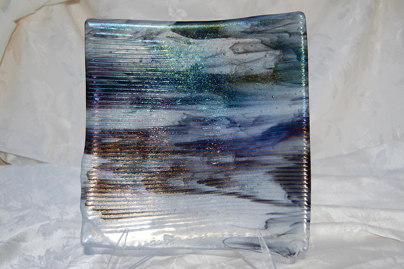"Glacial Moonshadows Collection<br /> 11"" x 11"" sushi<br /> $400"