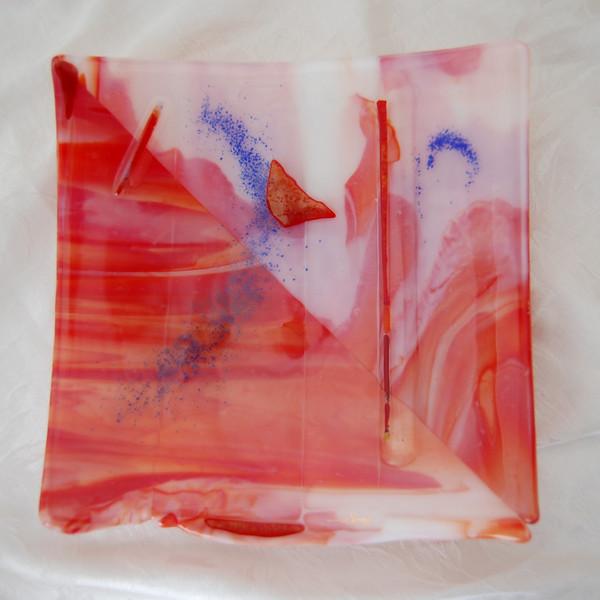 """Smokey Valentine"" - Large Platter<br /> 12"" x 12"" <br /> <br /> $ 800 (sold)"