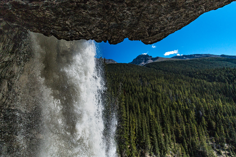 Looking Out of a Waterfall Cave