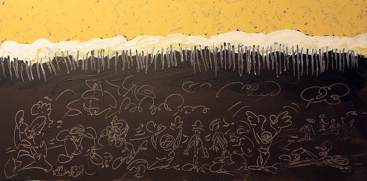 "DESPAIR<br /> 24"" x 48""<br /> Acrylic on Canvas<br /> $3,500.00 Unframed<br /> Artist Signature Lower Left"