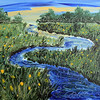 """WINDING STREAM<br /> Acrylic on Canvas<br /> 22"""" x 28""""<br /> Arist Signature in Stream Lower Right<br /> $1,850.00 unframed"""