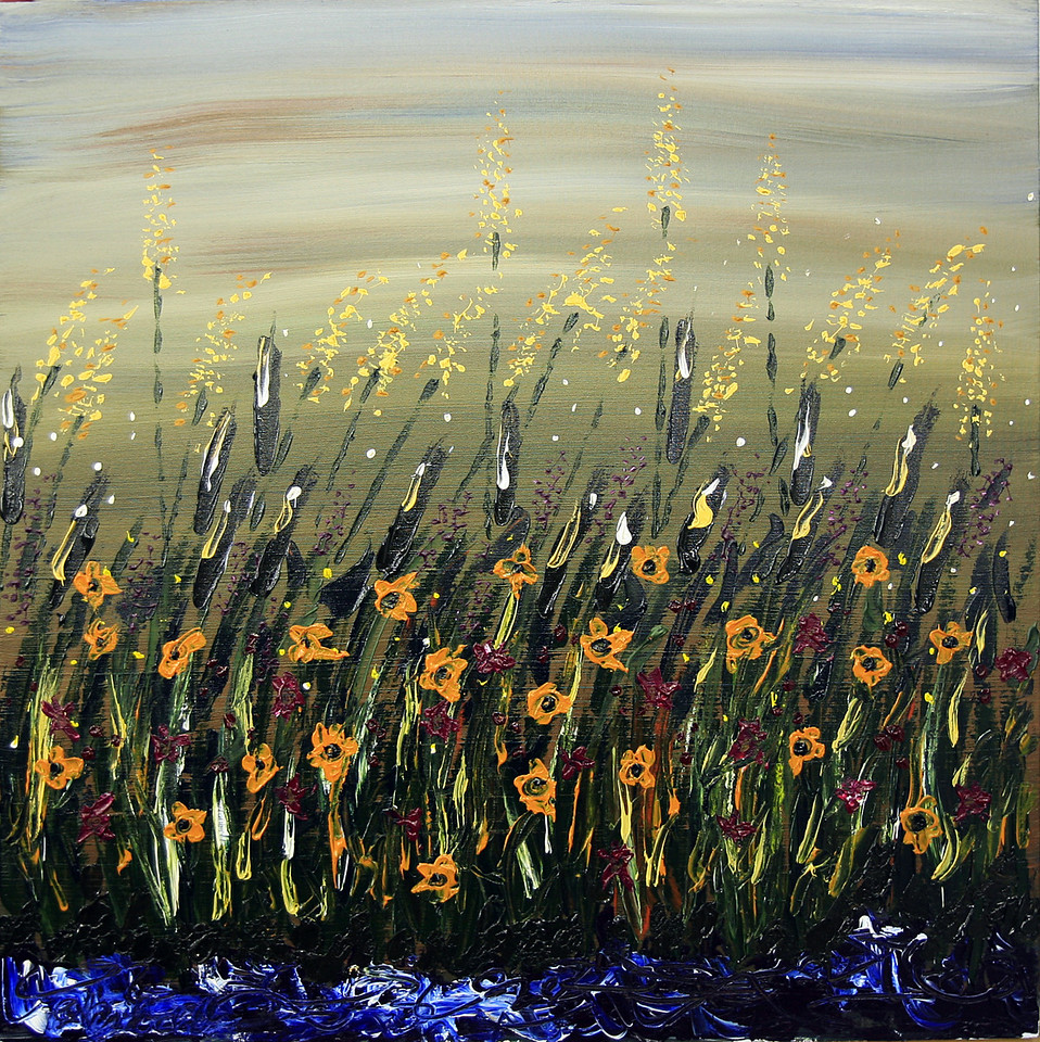 "LATE SUMMER SPLENDOR<br /> 30"" x 30""<br /> Acrylic on Canvas<br /> $2,700.00 unframed"