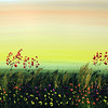 "FLOWERING AUTUMN FIELD<br /> 18"" x 36""<br /> Acrylic on Canvas<br /> $1,950.00 unframed"