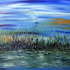 """Moonlight Reflections<br /> Acrylic on Canvas<br /> 24"""" x 30""""<br /> Artist Signature Lower Right<br /> SOLD"""