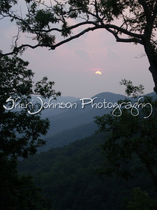 Misty sunset in the North Georgia mountains