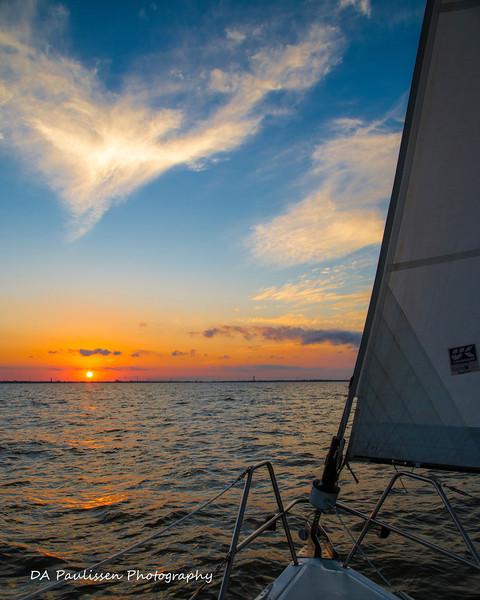 Galveston Bay Under the Jib