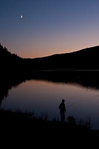 Twilight Fisherman - Dworshak Reservoir, Idaho