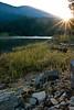 Sun Breaking Through on the Reservoir - Dworshak Reservoir, Idaho
