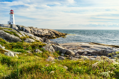 The light house at Peggys Cove, Nova Scotia.