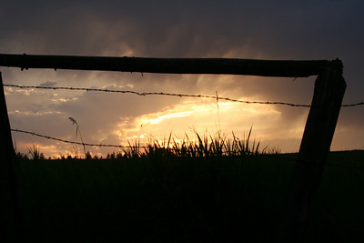 Sunset through the Fence - Weippe, Idaho