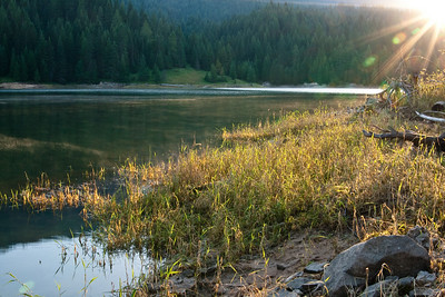 Golden Rays Hitting the Water - Dworshak Reservoir, Idaho