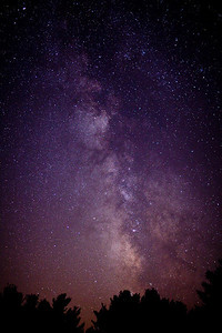 A view of the Milky Way in the Blue Ridge Mountains area of Virginia.