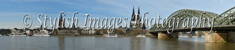 Rhein River and Hohenzollern Bridge