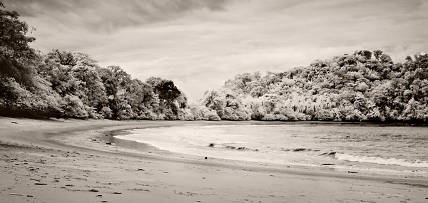 A cove in Manuel Antonio, Costa Rica captured in Infrared.