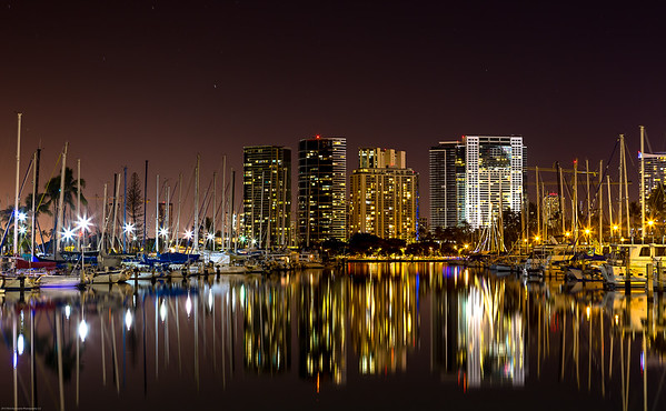 City Nighttime Reflection