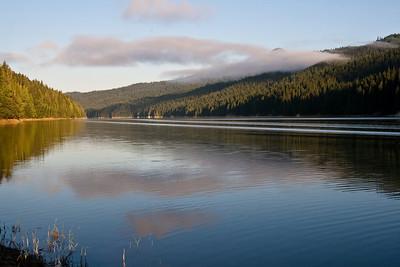 Reflections of Fog on the Reservoir - Dworshak Reservoir, Idaho