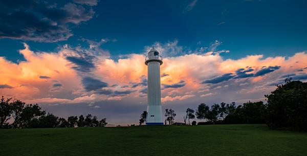 Yamba Lighthouse at Wooli Park - Storm Cloud at Sunset sRGB