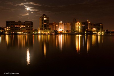 Sarasota City at Moonlight