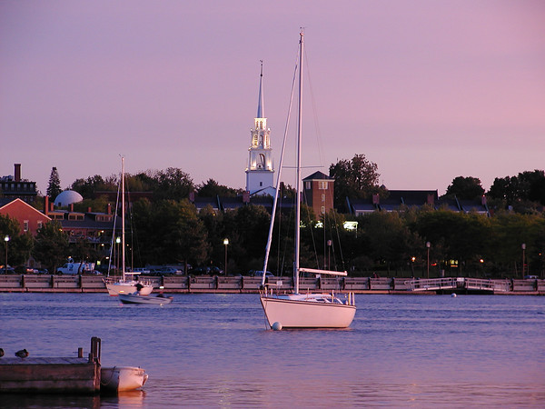 Sunset over the Merrimack River, Newburyport, MA
