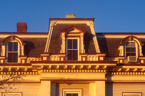 A mansard roof of a Victorian House, Haverhill MA.