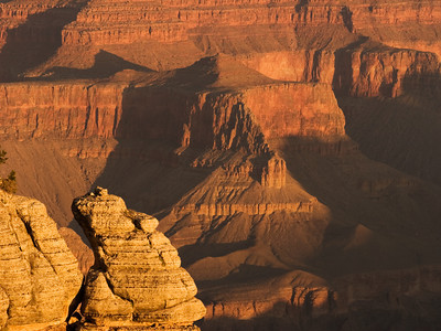 Grand Canyon At The Yavapai Point Overlook During Sunrise